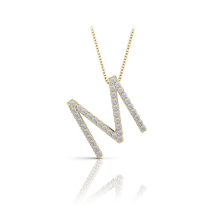 Diamond Initial Necklace - M | 04