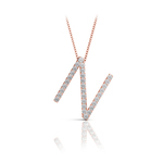 Diamond Initial Necklace - N   Thumbnail 05