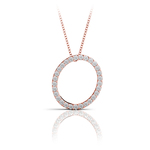 Diamond Initial Necklace - O | Thumbnail 05