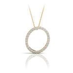 Diamond Initial Necklace - O | Thumbnail 04