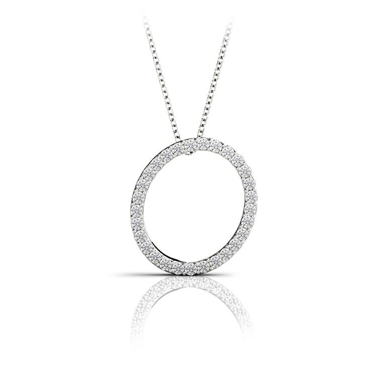 Diamond Initial Necklace - O | 01