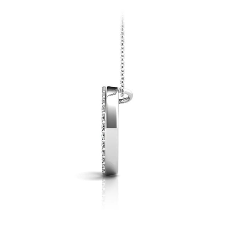 Diamond Initial Necklace - O | 02