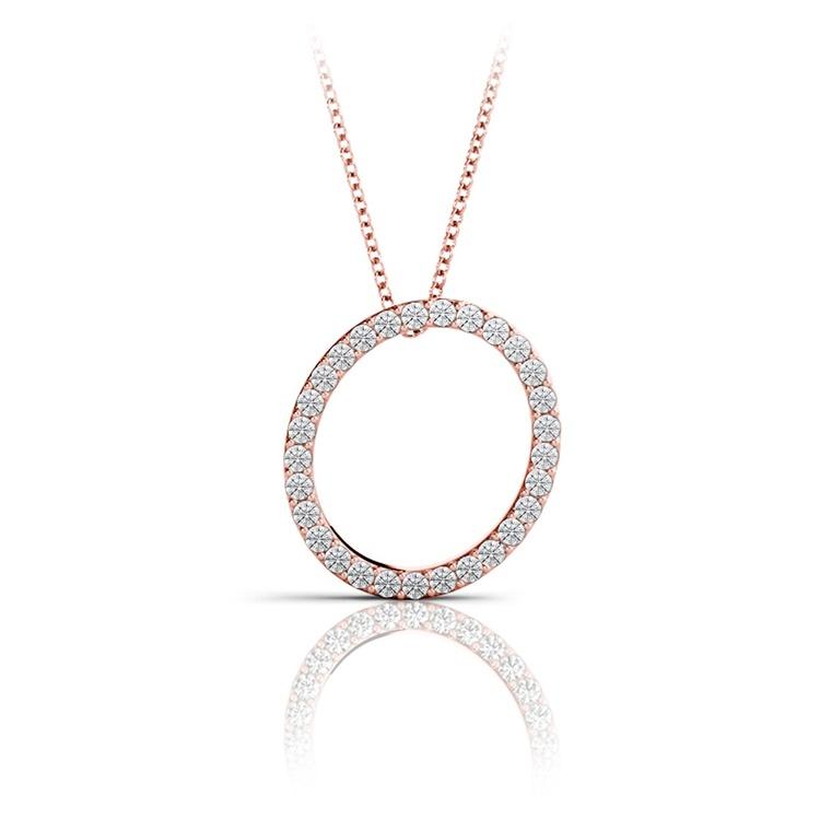 Diamond Initial Necklace - O | 05