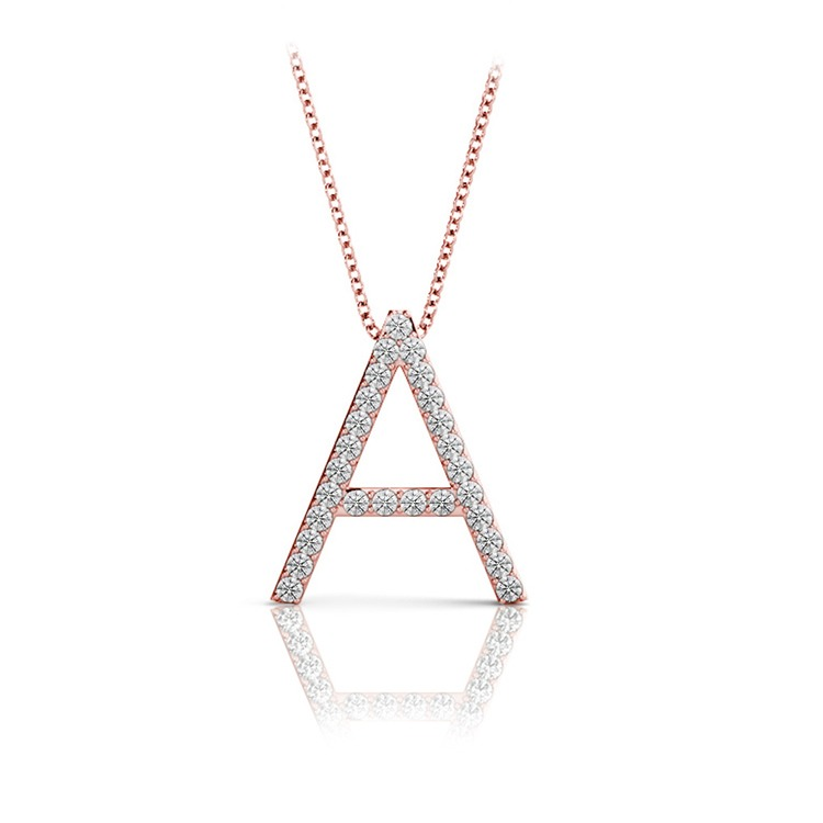 Diamond Initial Necklace - A | 05