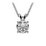 Round Diamond Solitaire Pendant in Platinum (1 1/2 ctw) | Thumbnail 01