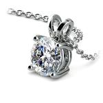 Round Diamond Solitaire Pendant in Platinum (1 1/2 ctw) | Thumbnail 03