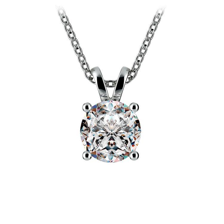 Round Diamond Solitaire Pendant in Platinum (1 1/2 ctw) | 01