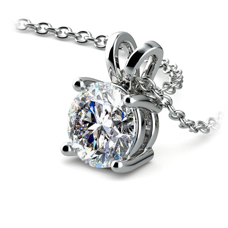 Round Diamond Solitaire Pendant in Platinum (1 1/2 ctw) | 03