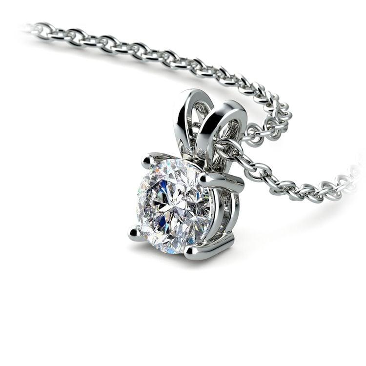 Round Diamond Solitaire Pendant in Platinum (1/2 ctw) | 03
