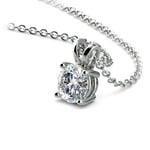 Round Diamond Solitaire Pendant in Platinum (1/3 ctw) | Thumbnail 03