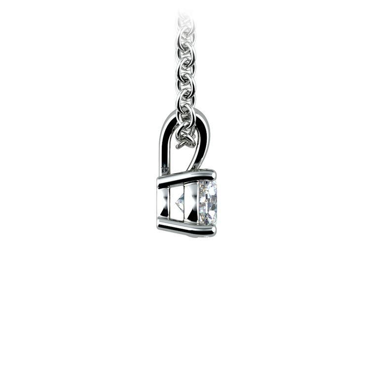 Round Diamond Solitaire Pendant in Platinum (1/3 ctw) | 02