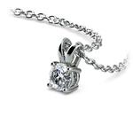 Round Diamond Solitaire Pendant in Platinum (1/4 ctw) | Thumbnail 03