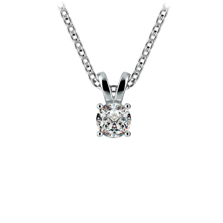Round Diamond Solitaire Pendant in Platinum (1/4 ctw) | 01