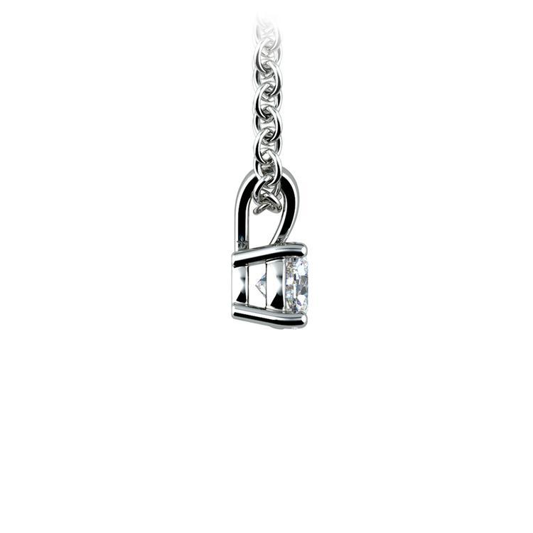 Round Diamond Solitaire Pendant in Platinum (1/5 ctw) | 02