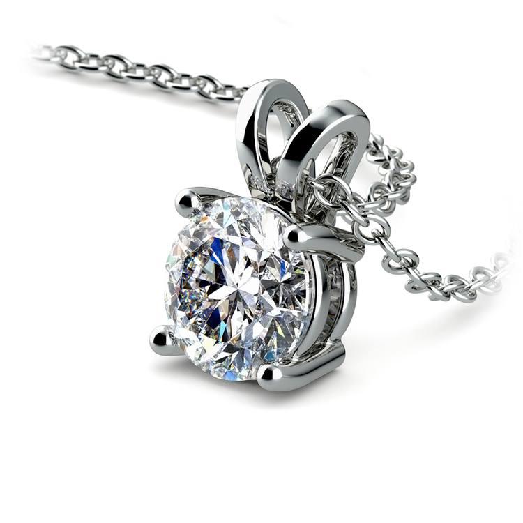 Round Diamond Solitaire Pendant in Platinum (1 ctw) | 03
