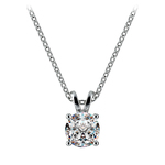 Round Diamond Solitaire Pendant in Platinum (3/4 ctw) | Thumbnail 01