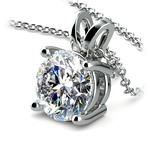 Round Diamond Solitaire Pendant in Platinum (3 ctw) | Thumbnail 03