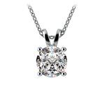 Round Diamond Solitaire Pendant in White Gold (2 ctw) | Thumbnail 01