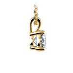Round Diamond Solitaire Pendant in Yellow Gold (1 ctw) | Thumbnail 02