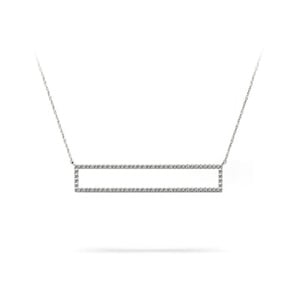 Diamond Bar Necklace in White Gold (3/8 ctw)