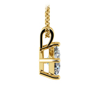 Square Solitaire Pendant Setting in Yellow Gold | Thumbnail 03
