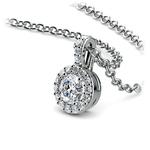 Halo Diamond Solitaire Pendant in Platinum (1/2 ctw) | Thumbnail 03