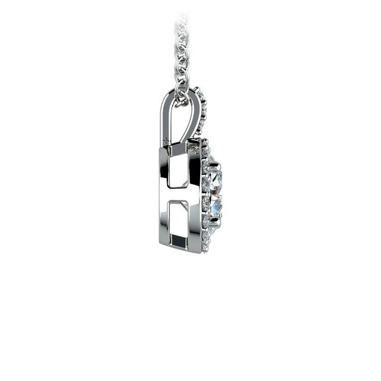 Halo Diamond Solitaire Pendant in Platinum (1 ctw) | 02