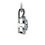 Halo Diamond Solitaire Pendant in White Gold (1 1/2 ctw) | Thumbnail 02