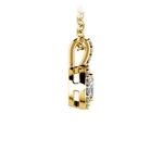 Halo Diamond Solitaire Pendant in Yellow Gold (3/4 ctw) | Thumbnail 02