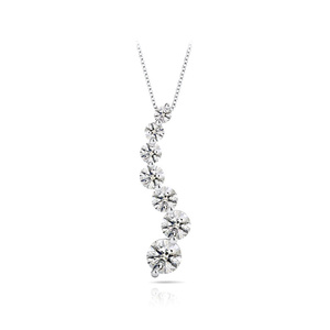 Journey Diamond Necklace in White Gold (2 Carat)