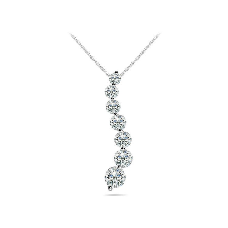 Journey Diamond Necklace in White Gold (1/4 ctw) | 01