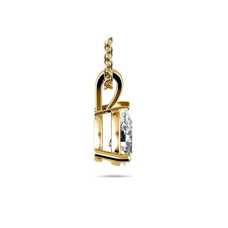 Pear Diamond Solitaire Necklace In Yellow Gold (1/2 ctw) | 02