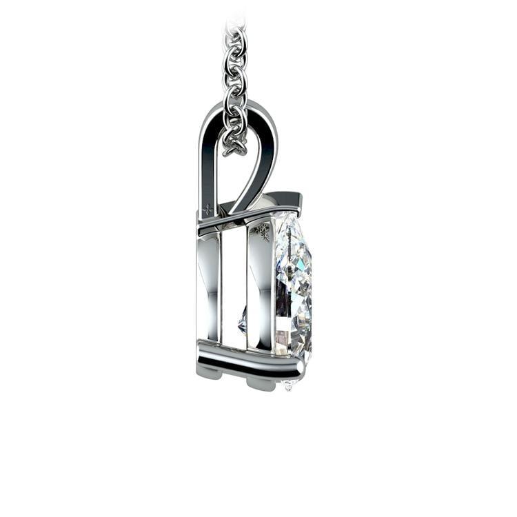 Pear Diamond Solitaire Pendant in Platinum (1 1/2 ctw) | 02