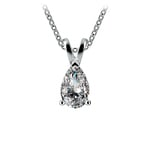 Pear Diamond Solitaire Pendant in Platinum (1/2 ctw) | Thumbnail 01