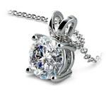 Pear Diamond Solitaire Pendant in Platinum (2 ctw) | Thumbnail 03