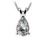 Pear Diamond Solitaire Pendant in Platinum (3 ctw) | Thumbnail 01