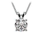Pear Diamond Solitaire Pendant in White Gold (2 ctw) | Thumbnail 01