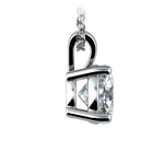 Pear Diamond Solitaire Pendant in White Gold (2 ctw)   Thumbnail 02
