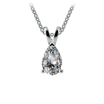 Pear Diamond Solitaire Pendant in White Gold (3/4 ctw) | Thumbnail 01