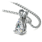 Pear Diamond Solitaire Pendant in White Gold (3/4 ctw) | Thumbnail 03