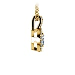 Petite Halo Diamond Pendant Setting in Yellow Gold | Thumbnail 03
