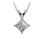Princess Diamond Solitaire Pendant in Platinum (1 1/2 ctw)  | Thumbnail 01