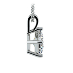 Princess Diamond Solitaire Pendant in Platinum (1 1/2 ctw)  | Thumbnail 02