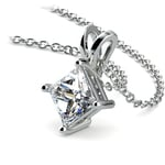 Princess Diamond Solitaire Pendant in Platinum (1 1/2 ctw)  | Thumbnail 03
