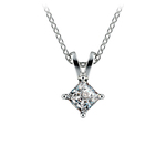 Princess Diamond Solitaire Pendant in Platinum (1/3 ctw)  | Thumbnail 01