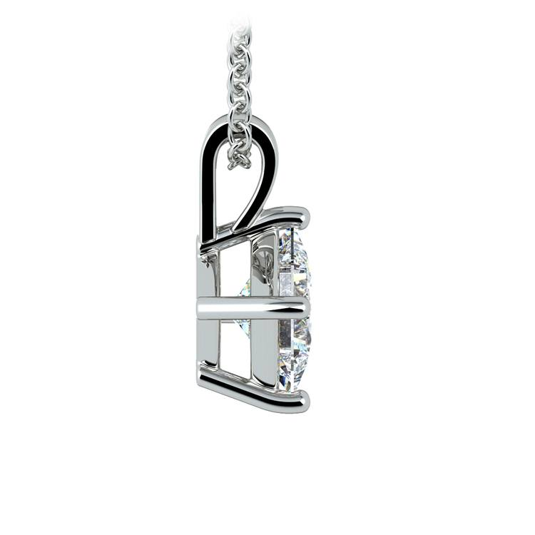 Princess Diamond Solitaire Pendant in Platinum (1 ctw)  | 02