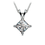 Princess Diamond Solitaire Pendant in Platinum (2 ctw)  | Thumbnail 01