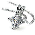 Princess Diamond Solitaire Pendant in Platinum (2 ctw)  | Thumbnail 03