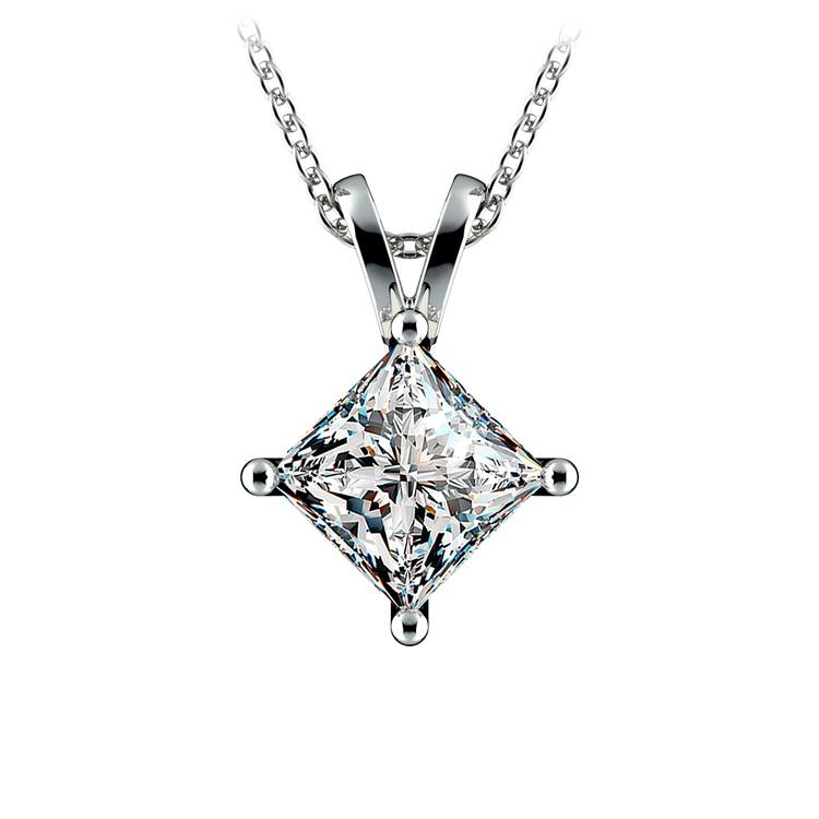 Princess Diamond Solitaire Pendant in Platinum (2 ctw)  | 01