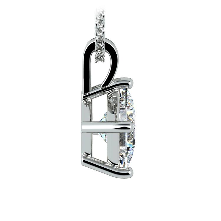 Princess Diamond Solitaire Pendant in Platinum (2 ctw)  | 02